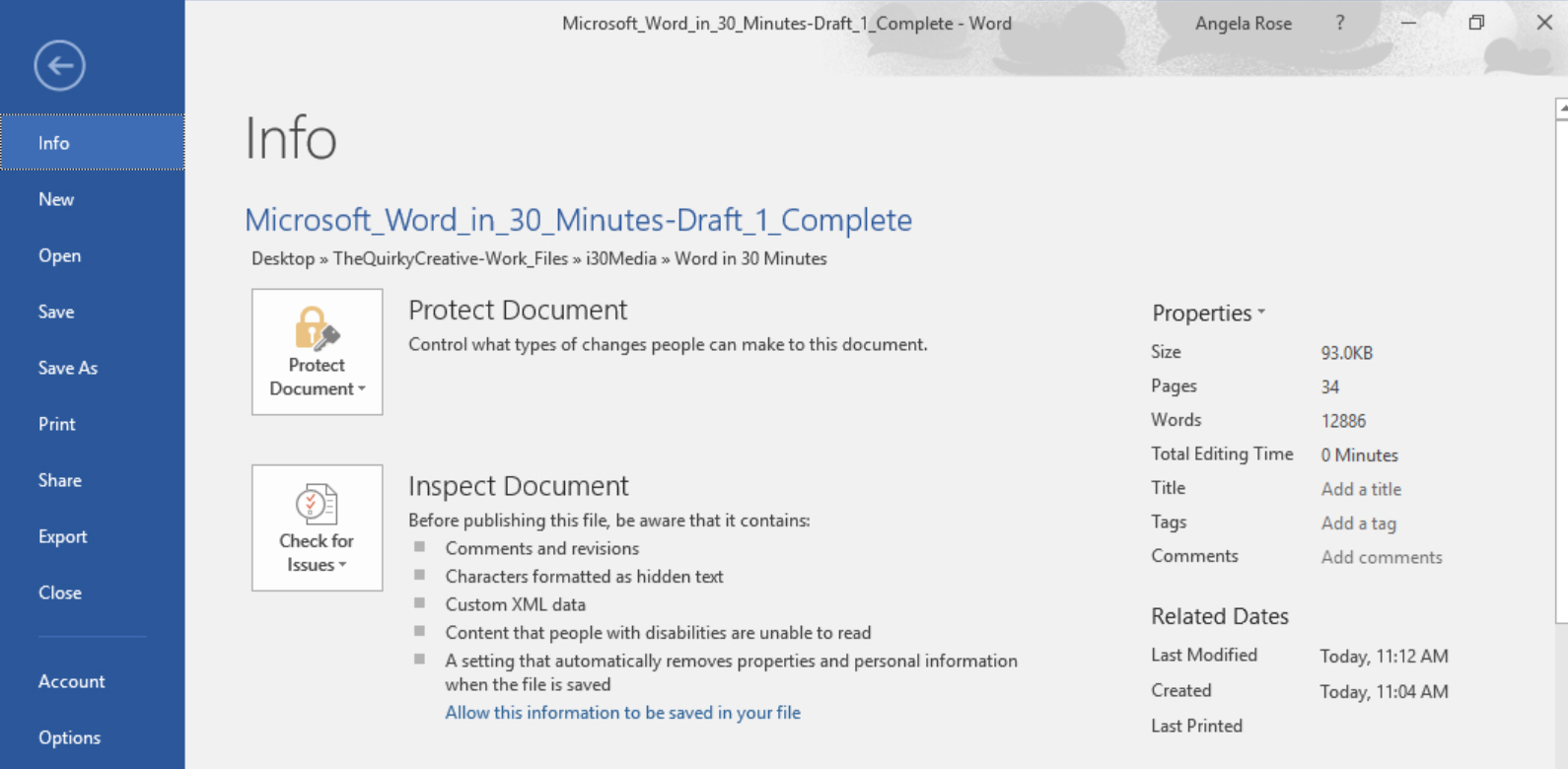 ms word 2016 how to keep menu in view